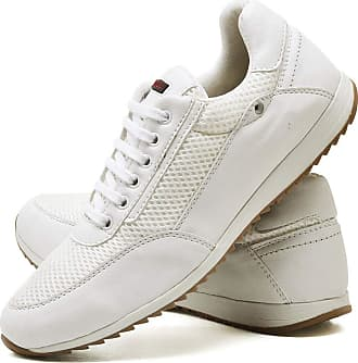 Juilli Sapatênis Sapato Casual Masculino Com Cadarço JUILLI R1100DB Tamanho:39;cor:Branco;gênero:Masculino