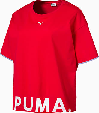 Puma Womens Chase Cotton T-Shirt, Hibiscus, size X Small, Clothing