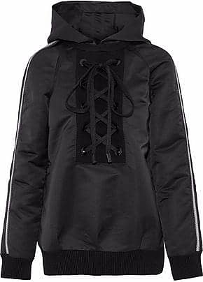 No Ka'Oi No Ka oi Woman Nele Lace-up Striped Shell Hooded Jacket Black Size 00