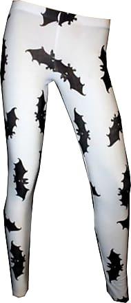Insanity Bats Flock Print Leggings (L/XL) White