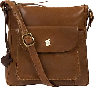 Pure Luxuries London Conkca London Shona Womens 24cm Biodegradable Leather Cross Body Bag with Zip Over Top, 100% Cotton Lining and Adjustable Slimline Leather Strap in Da