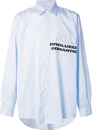 Paura Camisa com estampa Revoluzione Romantica - Azul