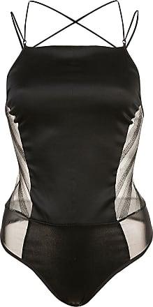 Kiki De Montparnasse striped lurex bodysuit - Black