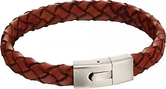 Acotis Limited Fred Bennett Elastic Clasp Orange Leather Bracelet B5130