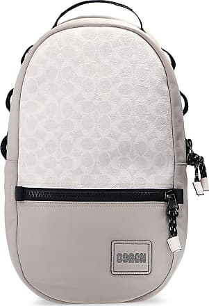 Coach Logo-patched Backpack Mens Grey