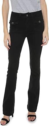Calvin Klein Jeans Calça Sarja Calvin Klein Jeans Bootcut Lisa Preta