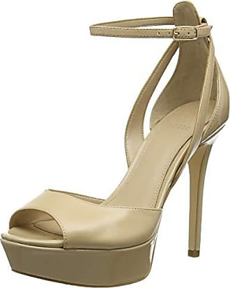 9570dfca Guess Laurele (Sandal)/Leath, Zapatos con Tacon y Correa de Tobillo para