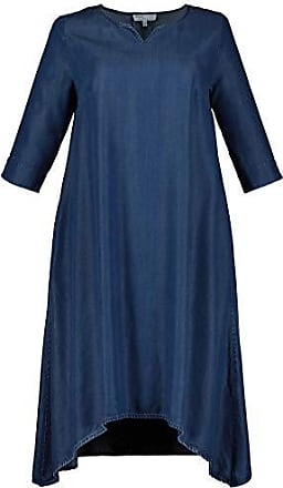 4dd8c2ae03dc0a Ulla Popken Damen große Größen Lyocell-Kleid Blue Denim 54/56 722452 92-