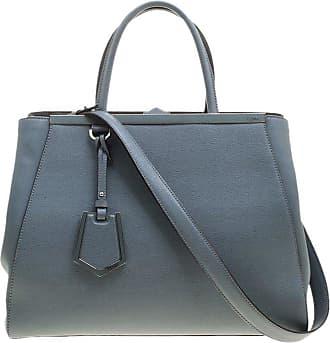 Fendi Grey Saffiano Leather 2jours Tote ce1fcb78f645c