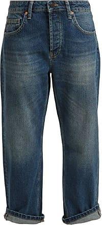 Raey Dad Baggy Boyfriend Jeans - Womens - Dark Blue