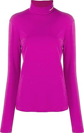 CALVIN KLEIN 205W39NYC logo embroidered turtleneck sweatshirt - Purple 1ad2b25fb