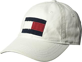 buy popular ea7fe a5146 Tommy Hilfiger Mens Dad Hat Tommy Flag Cap, Classic White, O S