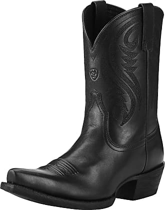 Ariat Womens Willow Western Boots in Limousin Black Leather, B Medium Width, Size 5, by Ariat