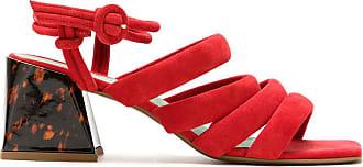 Blue Bird Shoes Sandália Kasbah de camurça - Vermelho