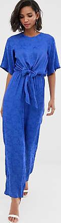 Y.A.S Jumpsuit mit Bindegürtel-Blau