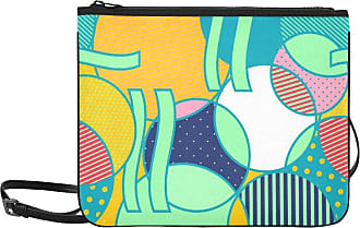 Yushg Shoulder Bag Crossbody Colorful Beautiful Art Round Line Adjustable Shoulder Strap Nice Handbags For Women Girls Ladies Beach Fashion Bag Zipper Clutc
