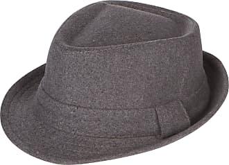 043f628de0d009 Sakkas EHA5033FM Unisex Structured Wool Fedora Winter Hat (3 Colors) -  Charcoal/S