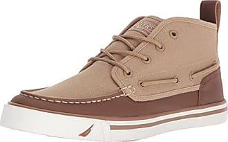 Nautica Mens DEL MAR MID Sneaker, tan/Camel, 9.5 Medium US