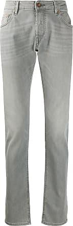 Hand Picked Calça jeans slim cintura média - Cinza