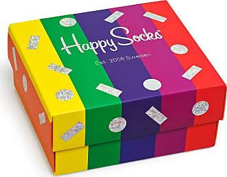 Happy Socks 2-Pack Pride Socks Gift Box, Black/Rainbow 41-46 (Medium/Large)