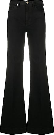 7 For All Mankind Calça jeans flare cintura média - Preto