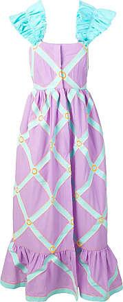 Yuliya Magdych Doll dress with ruffles - Purple