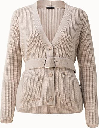 Akris Long Ribbed Cashmere Knit Cardigan with Belt