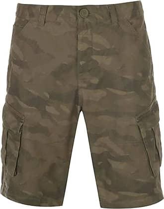 Firetrap Mens BTK Shorts Button Fly Closure (Camo, Large)