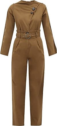 Sea New York Scout Belted Cotton-blend Jumpsuit - Womens - Khaki