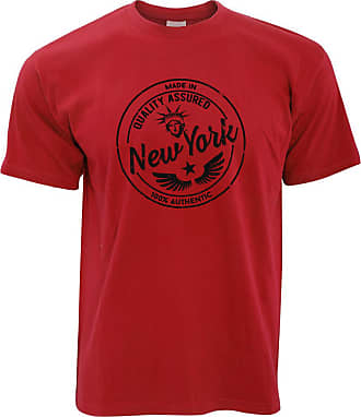 Tim And Ted Hometown Pride T Shirt Made in New York Stamp Red XXXX-Large