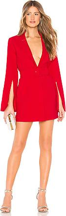 Amanda Uprichard Antwerp Blazer Dress in Red