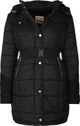 Mantel schwarz mit gurtel