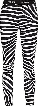 VETEMENTS Legging com logo e estampa de zebra - Preto