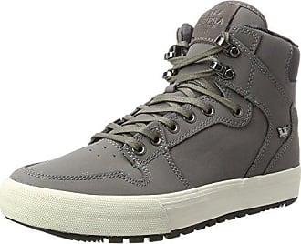 42 5 EU Basses Sneakers White CW Supra Vaider Gris Charcoal Homme qPzZ8vw