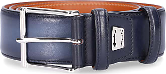 Santoni Santoni Belt for men Calfskin logo blue