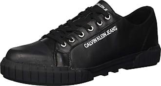 Calvin Klein Mens Burton Nappa Smooth Sneaker, Black, 9 UK