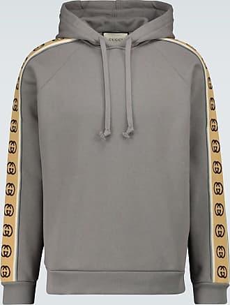 Gucci Hoodie aus Baumwolle mit Logo-Borten