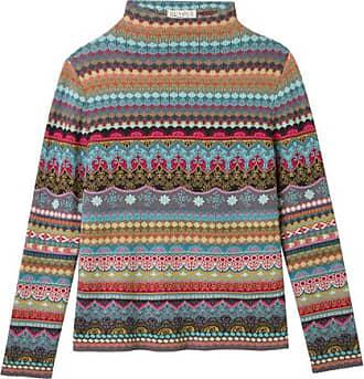 Schweikardt Moden Jacquard-Pullover aus Bio Baumwolle, petrol-gemustert 3c334d96da