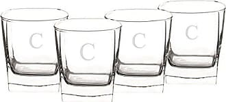 Cathy's Concepts Personalized Whiskey Glasses, Set of 4, Letter C