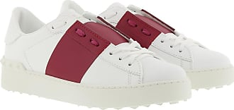 Valentino Sneakers - Open Sneakers Calfskin Bianco Raspberry Pink - white - Sneakers for ladies