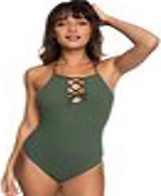 1bdc10257b248 Roxy Juniors Goldy Textured One Piece Swimsuit, Thyme, L