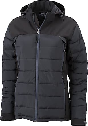 James & Nicholson JN1049 Ladies Outdoor Hybrid Jacket Black Size M