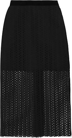 Philosophy di Lorenzo Serafini Velvet-trimmed Lace Midi Skirt - Black