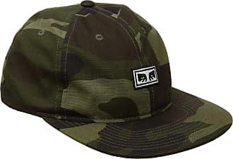 Obey Mens Overthrow 6 Panel Snapback Hat Baseball Cap - Multi - Camo