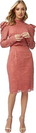 Little Mistress Corrina Desert Rose Lace Bodycon Dress 14 UK Desert Rose