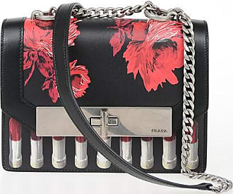 Prada Printed Leather Shoulder Bag Größe Unica