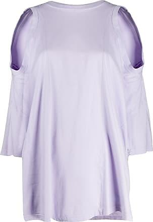 Maison Margiela Blusa assimétrica com recortes nos ombros - Roxo