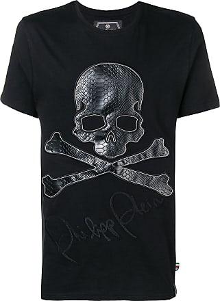 Philipp Plein Camiseta com patch de caveira - Preto
