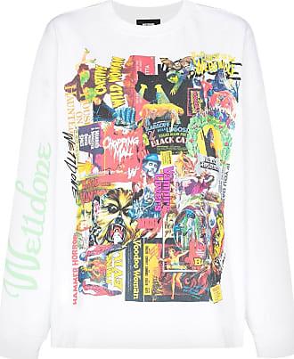 We11done Camiseta Horror Collage - Branco
