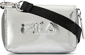Fila Portemonnaie mit Logo-Prägung - Silber